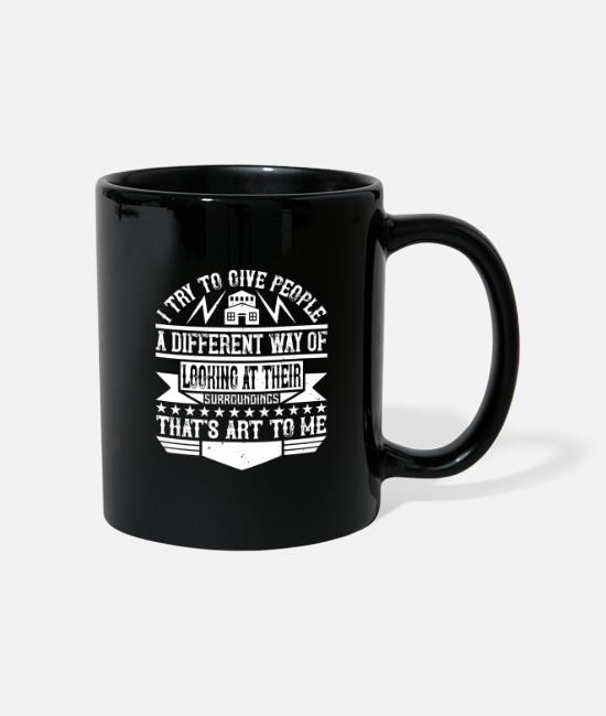 Building Mugs & Drinkware - Architect I give people a different way of looking - Mug black