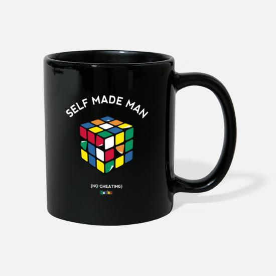 Officialbrands Kubki i dodatki - Rubik's Cube Self Made Man No Cheating - Kubek czarny