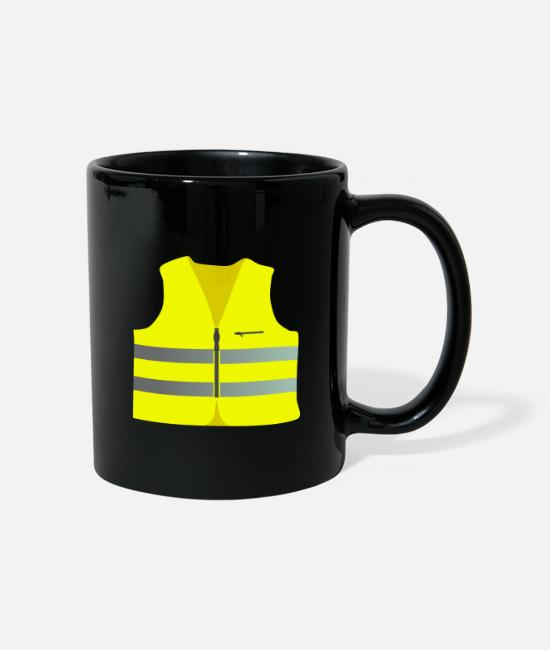 Politics Mugs & Drinkware - Safety vest for the Yellow West Protest yellow vests - Mug black