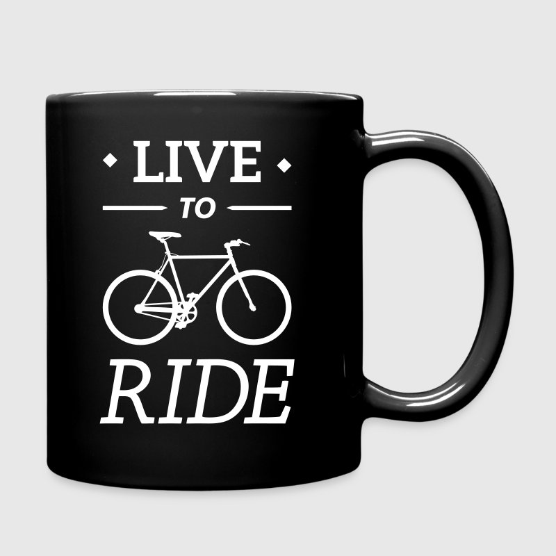 live to ride fixie cycling bicycle sport saying - Full Colour Mug