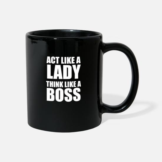 Birthday Mugs & Drinkware - Lady boss woman girl career - Mug black