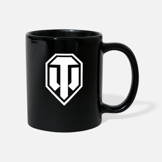 World Of Tanks Mugs & Drinkware - World of Tanks Logo White - Mug black