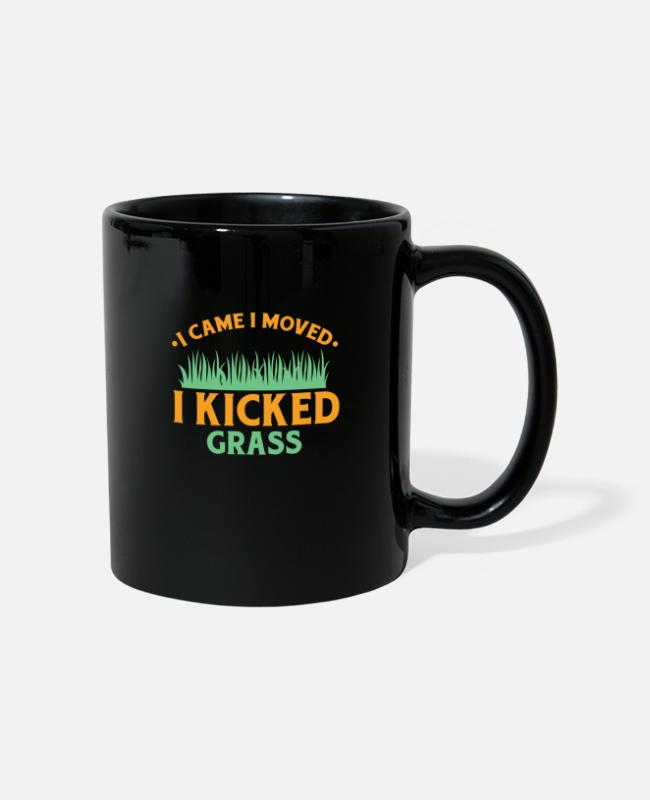 Nature Mugs & Drinkware - Lawn Mower Garden - Mug black