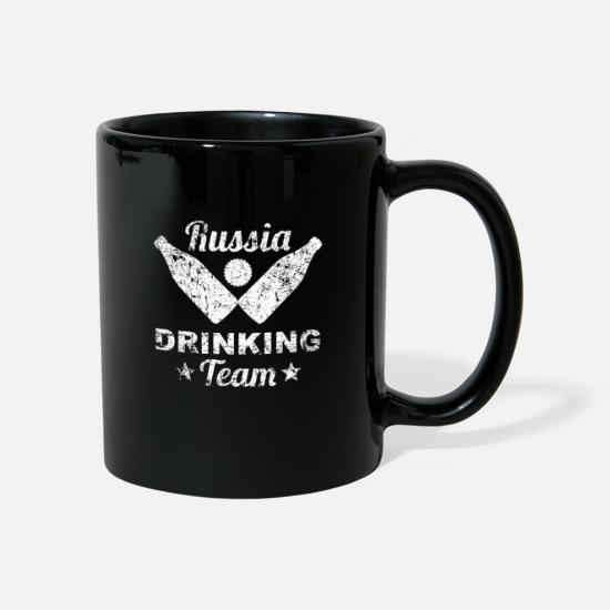 Alcohol Mugs & Drinkware - Russia Russia alcohol party drinking team gift - Mug black
