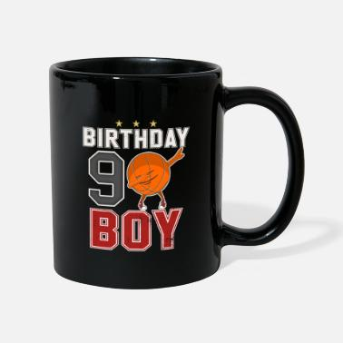 Nine 9 years old - 9th Dabbing Basketball B-Day Boy - Full Colour Mug
