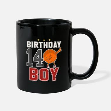 14th Birthday 14 Years Old - 14th Dabbing Basketball B-Day Boy - Full Colour Mug