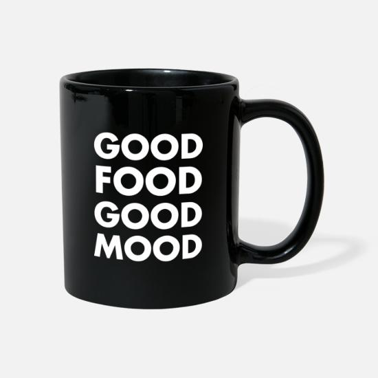 Gift Idea Mugs & Drinkware - good food good mood gift food - Mug black