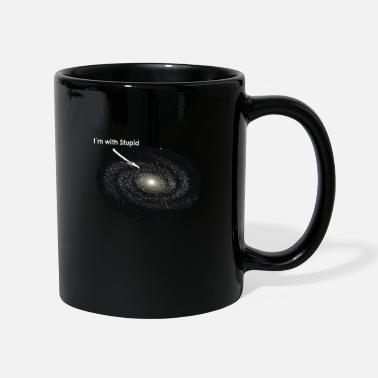 Neptune I Am With Stupid Galaxy Astronomer Planet Universe - Mug
