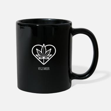 420 Oclock Vegetarian I Weed Cannabis CBD 420 Hemp Heart Love - Mug