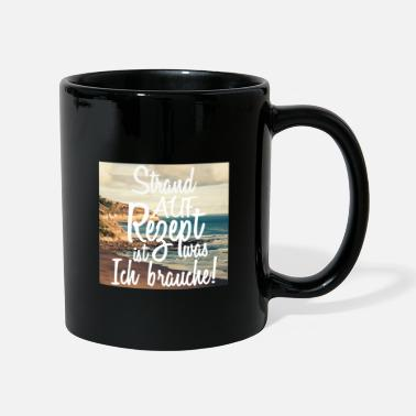 Promenade Beach sea promenade coast travel - Mug
