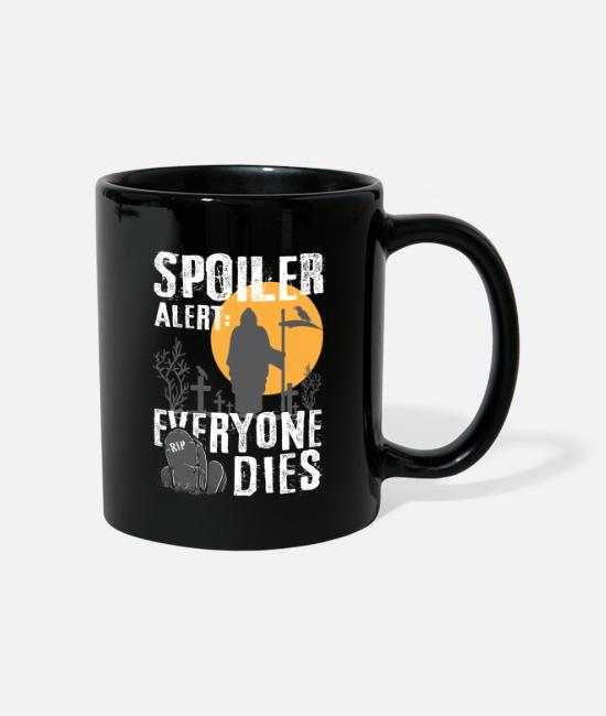 Series Mugs & Drinkware - Spoiler Alert: Everyone This - Gamer Halloween Fan - Mug black