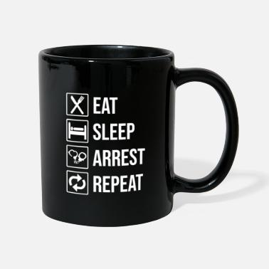 Polis Ät Sleep Arrest Repeat Funny Cop T-shirt - Mugg
