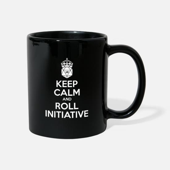 Dungeons And Dragons Mugs & Drinkware - Keep calm and roll initiative - Dnd - Mug black
