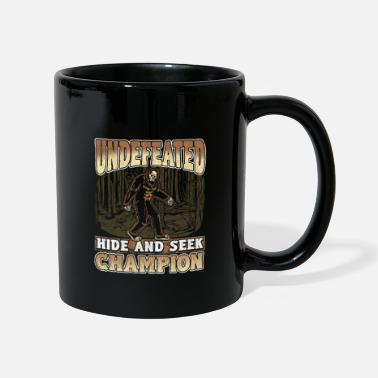 Yeti Bigfoot Design - Undefeated Hide And Seek Champion - Tazza