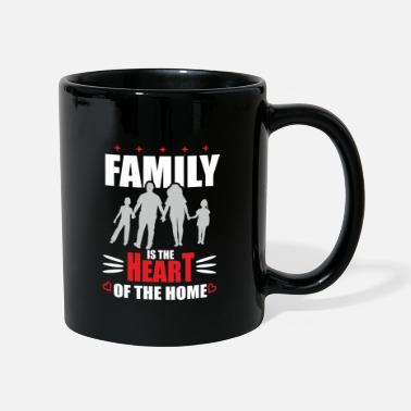 Familienwappen family is the heart - Tasse