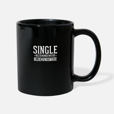 Relationship Status Single Status Gift Single Solo Witty Alone - Full Colour Mug