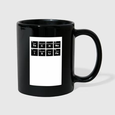 Underground Techno is life Periodic Table Music DJ Club - Full Colour Mug