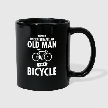 Never Underestimate An Old Man With A Bicycle - Taza de un color