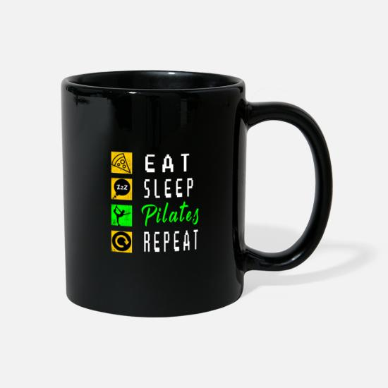 Sentiment Mugs et récipients - Pilates Health Fitness Balance Sports Gift - Mug noir