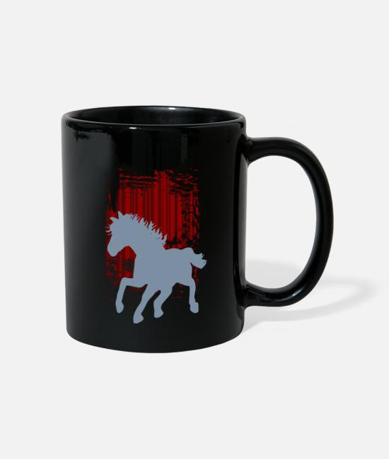 Love Mugs & Drinkware - background rotes_muster - Mug black