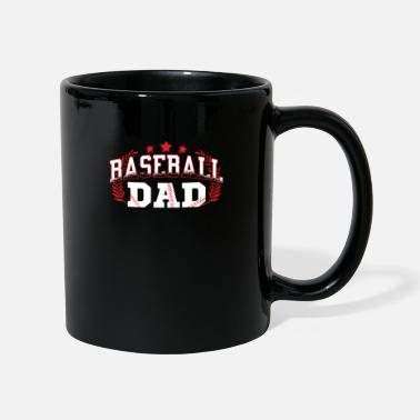 Daddy Baseball Pitcher Batter Inning Gift Bat - Full Colour Mug