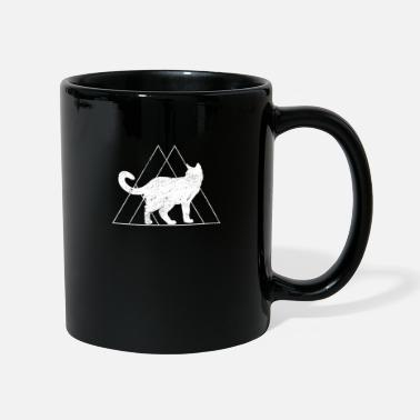 Geometry Cat gift triangle Maine coon pyramid animal - Full Colour Mug