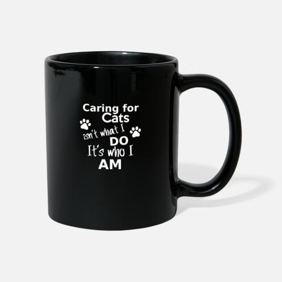 Tenderness Mugs & Drinkware - Care for cats is not - Mug black