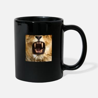 Lion face mask big cat teeth predator mask - Mug