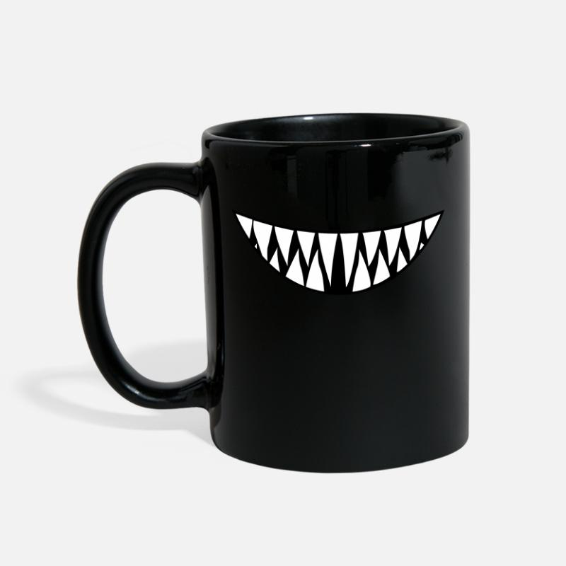 Smile Mugs & Drinkware - Toothy Smile - Mug black