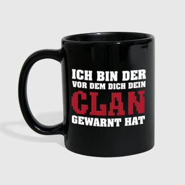 Gamer-Shirt-Clan hat gewarnt - Tasse einfarbig