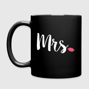 Newlyweds Mrs Lips Typography Wife - Full Colour Mug