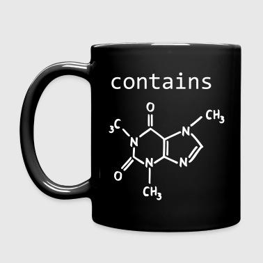 Contains Coffeine / Caffeine / Coffee / Kaffee - Tasse einfarbig