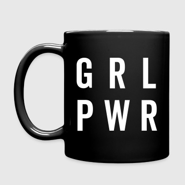 GRL PWR / Girl Power Quote - Enfärgad mugg