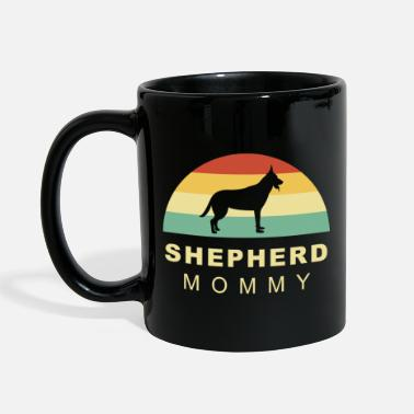 Long-haired Long-haired Herd Dog Cool retro vintage german shepherd dog mom - Mug