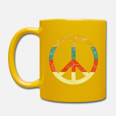 Peace Sign Peace sign retro colors vintage grunge look - Mug