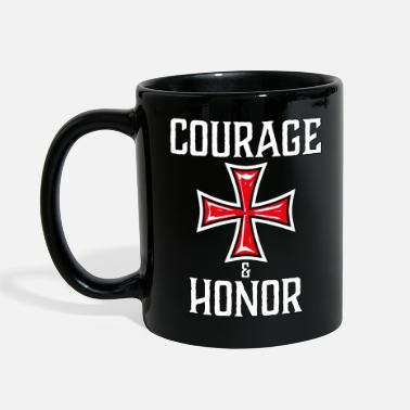 Sociedad Secreta 28 Courage and Honor Knights Templar Knights Cross - Taza