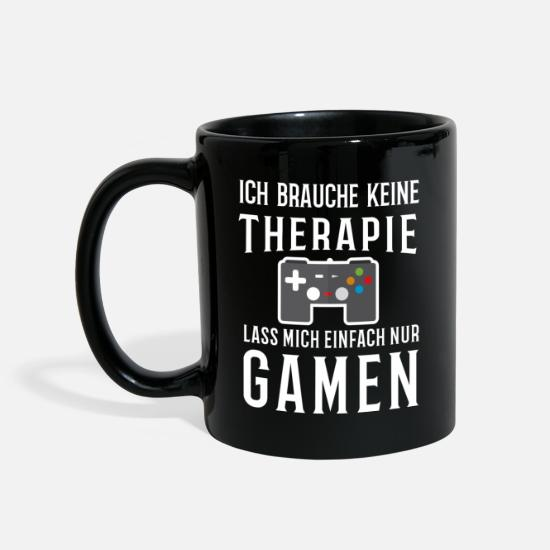 Clan Mugs et récipients - Gamer T-shirt fille du clan - Mug noir