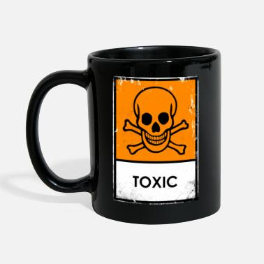 Punk. Skull chemical danger. Toxic or poisonous - Full Colour Mug