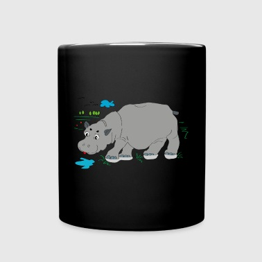 Hippo meadow - Full Colour Mug