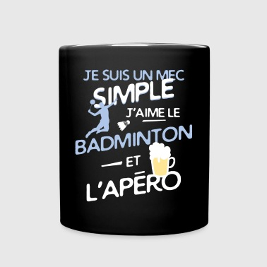 Badminton - un mec simple - Mug uni