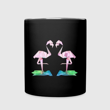 Low-Poly Flamingos - Full Colour Mug