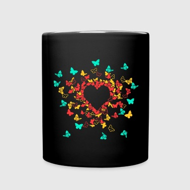 Butterfly Heart In Colour 1 - Tasse einfarbig