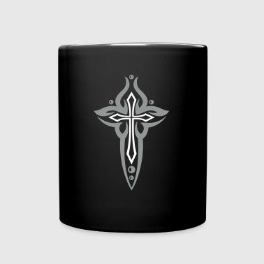 Cross, Crucifix, with pearls. - Full Colour Mug