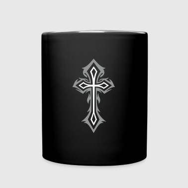 Cross, Crucifix, with thorns, gothic style. - Full Colour Mug