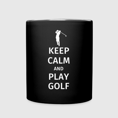 Keep Calm and Play Golf - Yksivärinen muki