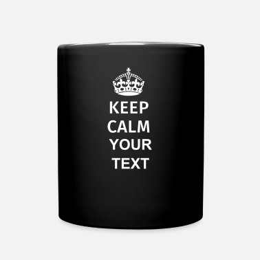 Keep Calm And Keep Calm - Tasse einfarbig