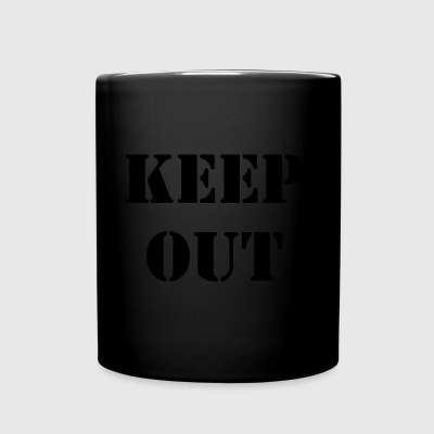 keep out - Tasse en couleur