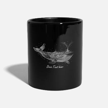 Save The Whales white whale in the ocean - Full Colour Mug
