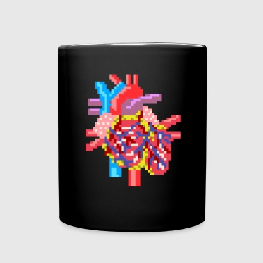 Pixelart heart realistic - Full Colour Mug