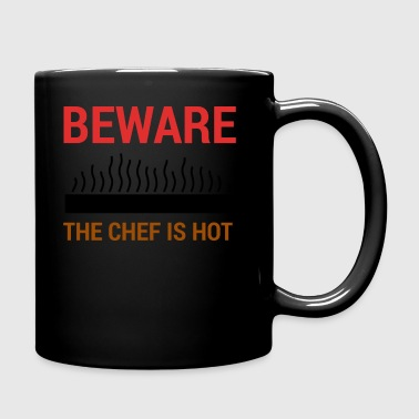 Chef / Chef Cook: Beware - The Chef Is Hot. - Full Colour Mug